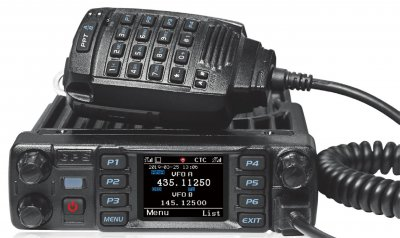 Anytone D578UV DMR mobil tranceiver med GPS och Bluetooth